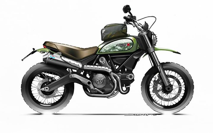 ducati scrambler urban enduro official accessories - ducati